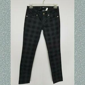 Plaid Skinny Pants By YMI
